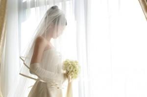 ヴェールダウンしてもらった花嫁